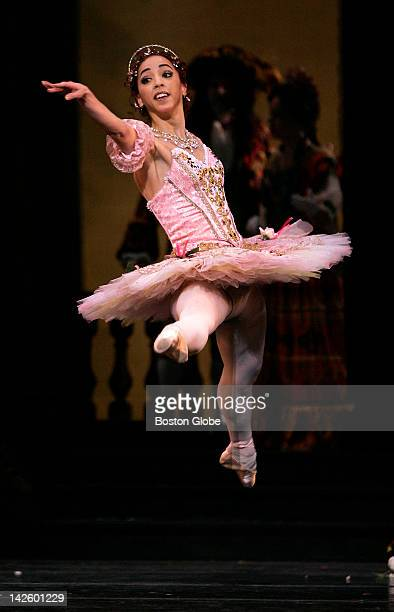 Lorna Feijoo as Aurora during Boston Ballet's rehearsal of The Sleeping Beauty at the Wang Center