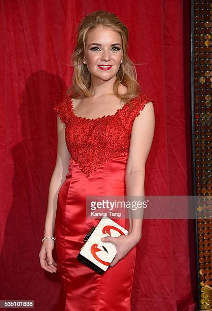 Lorna Fitzgerald arrives for the British Soap Awards 2016 at the Hackney Town Hall Assembly Rooms on May 28 2016 in London England