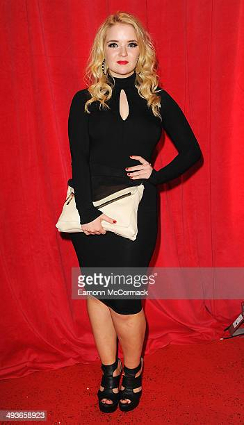 Lorna Fitzgerald attends the British Soap Awards at Hackney Empire on May 24 2014 in London England