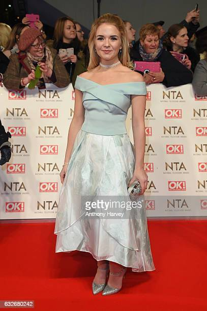 Lorna Fitzgerald attends the National Television Awards on January 25 2017 in London United Kingdom