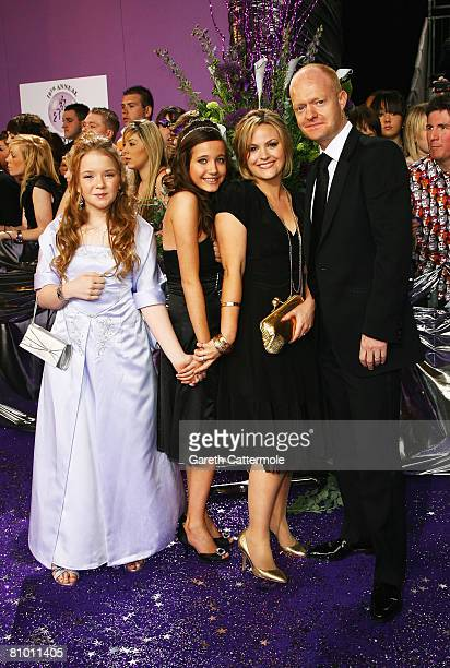 Lorna Fitzgerald Madeline Duggan Jo Joyner and Jake Wood arrive for the British Soap Awards 2008 at BBC Television Centre on May 3 2008 in London...
