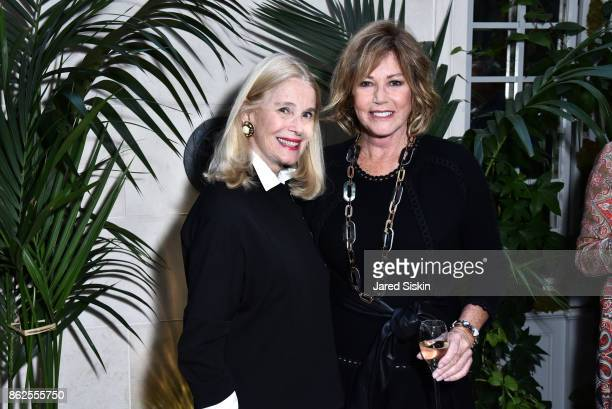 Lorna Graev and Kathi Koll attend QUEST VHERNIER Host Luncheon at MAJORELLE at Majorelle on October 17 2017 in New York City