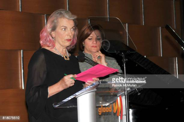 Lorna Kelly and Speaker Christine Quinn attend 2nd Annual GLAAD Media Awards in Advertising at Grand Hyatt New York on September 29 2010 in New York...