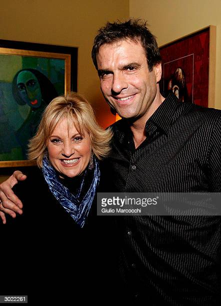 Lorna Luft and Colin Freeman attend a party for Kathy and Mo's greatest hits February 27 2004 at Nic's Martini Bar Grill in Beverly Hills California