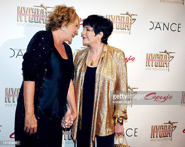 Lorna Luft and Liza Minnelli attends the Bright Lights Shining Stars Gala at Jack H Skirball Center for the Performing Arts on September 5 2012 in...