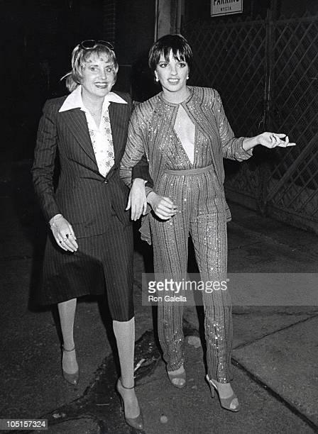 Lorna Luft and Liza Minnelli during Martha Graham Award to Halston at Studio 54 in New York City NY United States