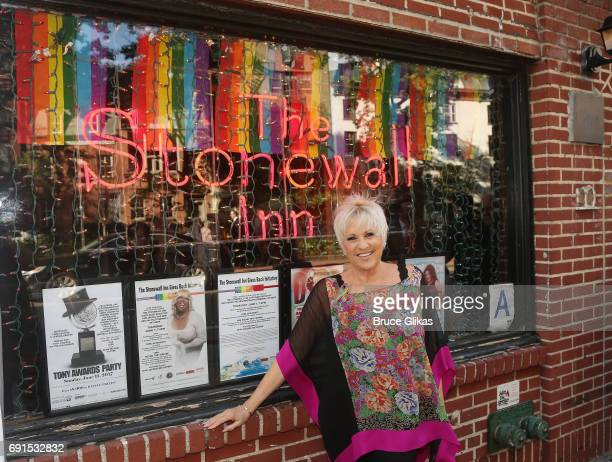 Lorna Luft poses at the Stonewall Inn Gives Back Initative Launch and The KickOff to 2017 New York City Gay Pride Month at The Stonewall Inn on June...