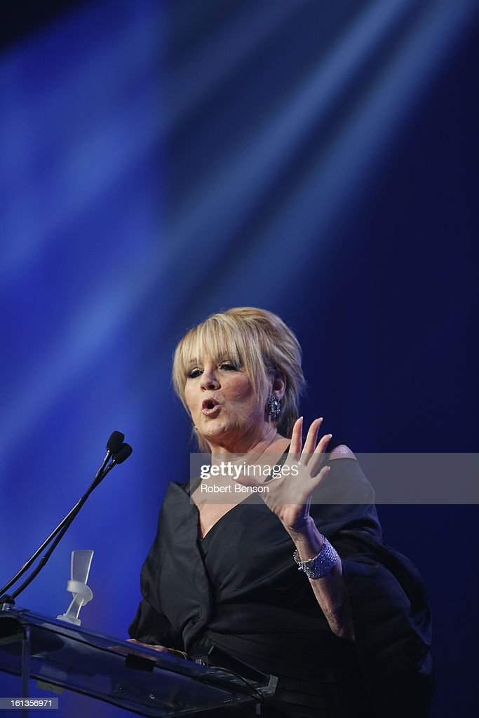 Lorna Luft speaks at the 19th Annual Steve Chase Humanitarian Awards Gala at the Palm Springs Convention Center on February 9, 2013 in Palm Springs, California.