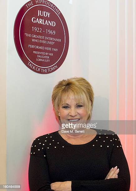 Lorna Luft visits the Hippodrome in London to unveil a plaque in honour of her late mother Judy Garland in memory of her work for Talk of the Town on...