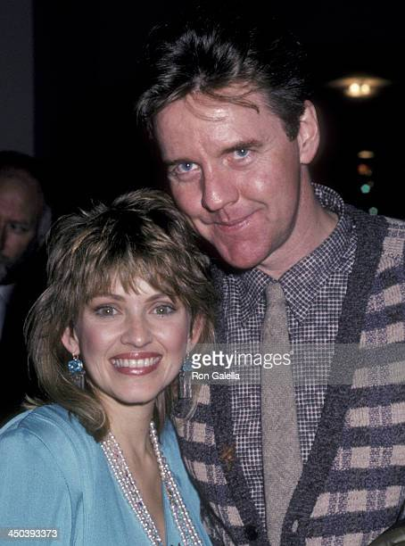 Lorna Patterson and Robert Ginty attend Stephen J Cannell Party on January 14 1986 at the Hollywood Roosevelt Hotel in Hollywood California