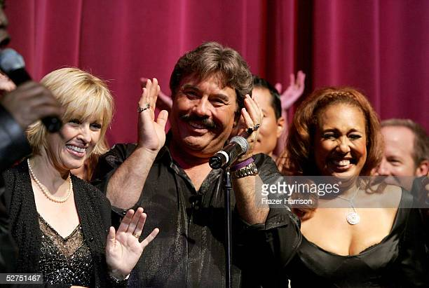 Lorna Patterson singer Tony Orlando and Telma Hopkins perform during the WeSPARKLE Variety Hour to benefit weSPARK Cancer Support Center held at The...