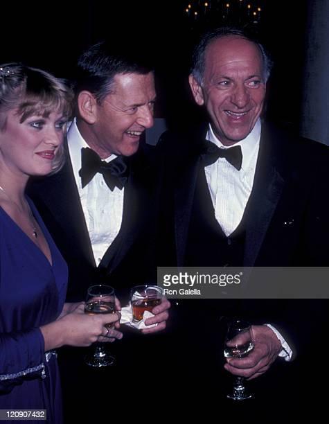 Lorna Patterson Tony Randall and actor Jack Klugman attend Myasthenia Gravis Foundation Humanitarian Awards Honoring Ed Asner on February 21 1981 at...