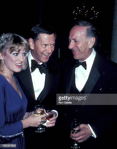 Lorna Patterson Tony Randall and Jack Klugman during Myasthenia Gravis Humanitarian Award Benefit Dinner at Beverly Hilton Hotel in Beverly Hills...