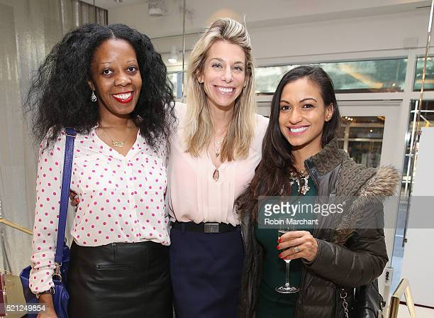 Lorna Solano Sarah Gargano and Milly Almodovar attend Osswald NYC Il Profumo Perfume Launch on April 14 2016 in New York City