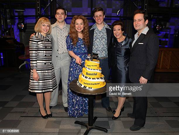 Lorna Want Ian McIntosh Cassidy Janson Alan Morrissey Diane Keen and Gary Trainor following the 1st Birthday Gala Performance of Beautiful The Carole...