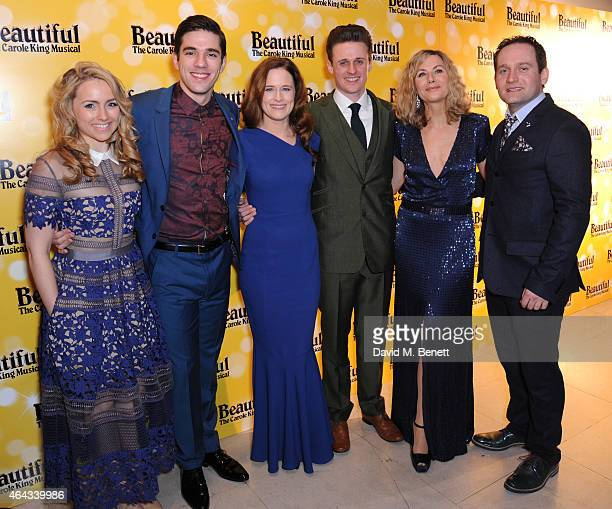 Lorna Want, Ian McIntosh, Katie Brayben, Alan Morrissey, Glynis Barber and Gary Trainor attend an after party following the press night performance...