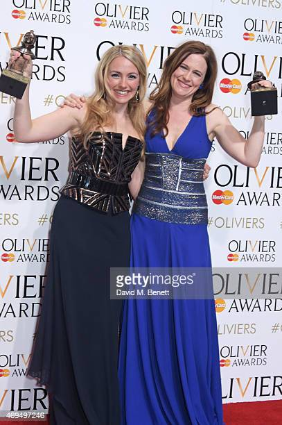 Lorna Want winner of the Best Actress In A Supporting Role award for 'Beautiful The Carole King Musical' and Katie Brayben winner of Best Actress In...