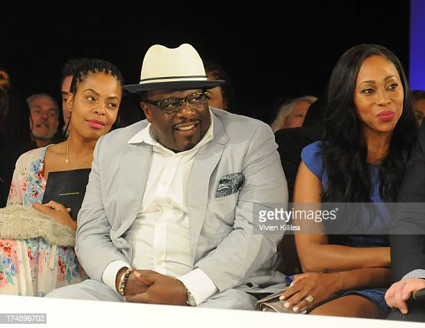 Lorna Wells and Cedric Antonio Kyles Cedric the Entertainer front row at 15th Annual DesignCare on July 27 2013 in Malibu California