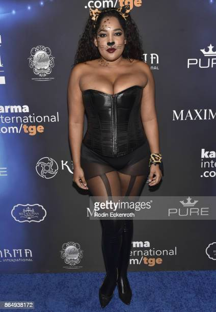 Lornalitz Baez arrives at the 2017 MAXIM Halloween Party at LA Center Studios on October 21 2017 in Los Angeles California