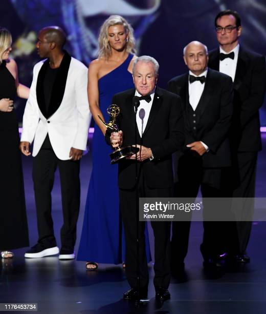 Lorne Michaels accepts the Outstanding Variety Sketch Series award for 'Saturday Night Live' onstage during the 71st Emmy Awards at Microsoft Theater...