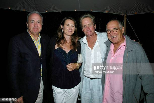 Lorne Michaels Alice Michaels Michael Douglas and Jimmy Buffett attend After Party Dinner For First Look Studios KING OF CALIFORNIA at Home of...