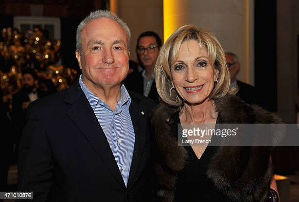 Lorne Michaels and Andrea Mitchell attend Capitol File's WHCD Weekend Welcome Reception with Cecily Strong at The British Embassy on April 24 2015 in...