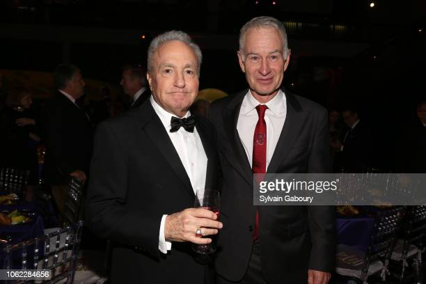 Lorne Michaels and John McEnroe attend American Museum Of Natural History's 2018 Museum Gala at American Museum of Natural History on November 15...