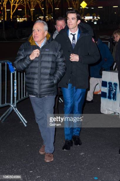 Lorne Michaels and John Mulaney are seen in Midtown on December 10 2018 in New York City