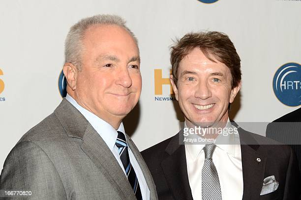 Lorne Michaels and Martin Short attend 'Comedy on TV A Conversation with Lorne Michaels' presented by the Hollywood Radio and Television Society at...