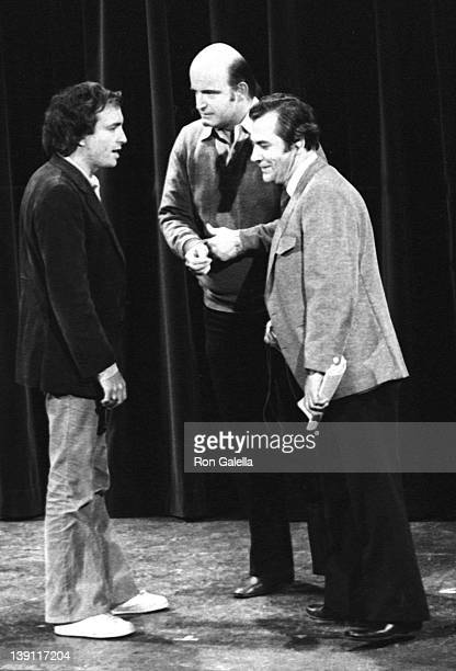 Lorne Michaels and Peter Boyle attend the taping of Saturday Night Live on February 14 1976 at Rockefeller Center in New York City