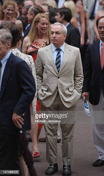 Lorne Michaels attends Alec Baldwin and Hilaria Thomas' wedding ceremony at St Patrick's Old Cathedral on June 30 2012 in New York City