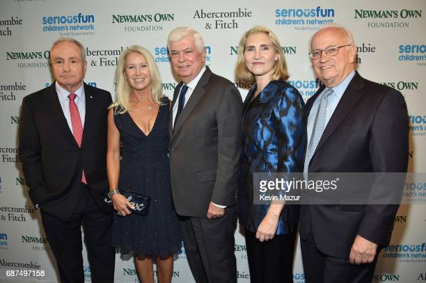 Lorne Michaels Clea Newman Sonderlund Chris Dodd Jackie Marie Clegg and Bob Forrester attend the SeriousFun Children's Network Gala at Pier 60 on May...