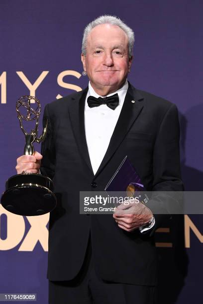Lorne Michaels poses with award for Outstanding Variety Sketch Series in the press room during the 71st Emmy Awards at Microsoft Theater on September...