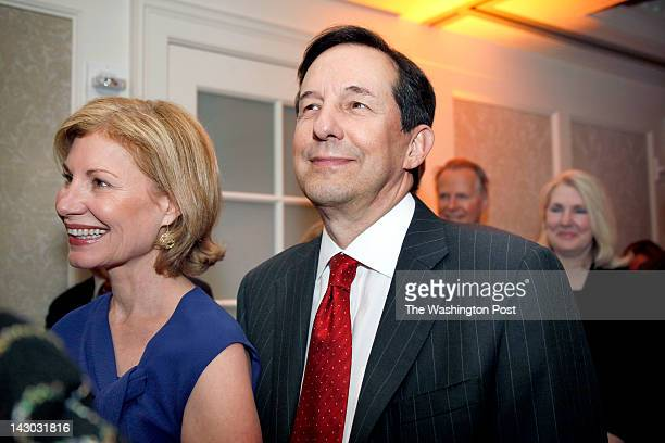 Lorraine and Chris Wallace of Fox News listen to the tribute at the MPAA and Ronald Reagan Presidential Foundation's evening honoring Reagan's...