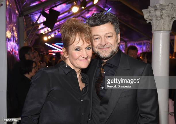 Lorraine Ashbourne and actor Andy Serkis attends the Great British Film Reception honoring the British nominees of The 90th Annual Academy Awards on...