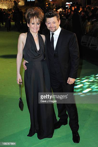 """Lorraine Ashbourne and Andy Serkis attend a royal film performance of """"The Hobbit: An Unexpected Journey"""" at The Empire Leicester Square on December..."""