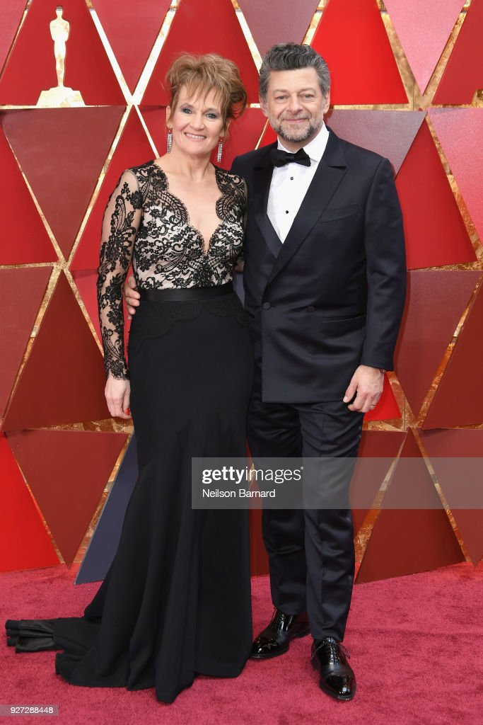 Lorraine Ashbourne (L) and Andy Serkis attend the 90th Annual Academy Awards at Hollywood & Highland Center on March 4, 2018 in Hollywood, California.