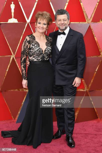 Lorraine Ashbourne and Andy Serkis attend the 90th Annual Academy Awards at Hollywood Highland Center on March 4 2018 in Hollywood California