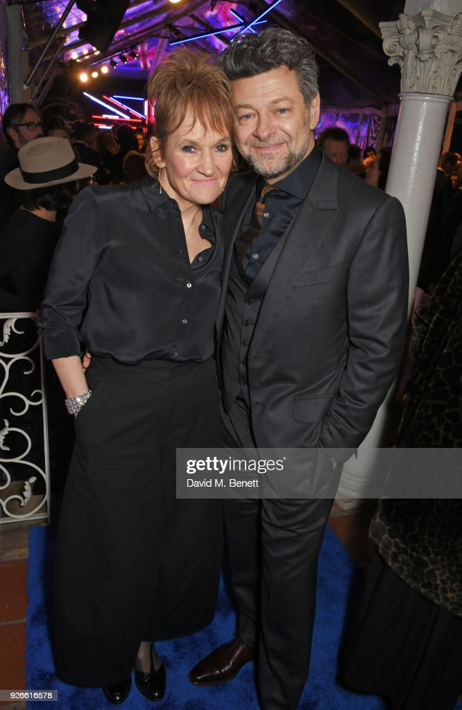 Lorraine Ashbourne (L) and Andy Serkis attend the GREAT British Film Reception honoring the British nominees of The 90th Annual Academy Awards at The British Residence on March 2, 2018 in Los Angeles, California.