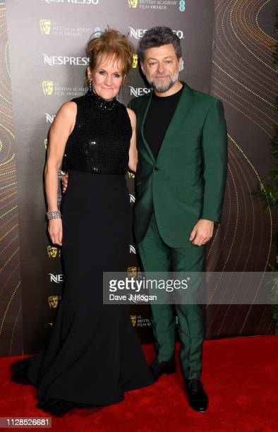 Lorraine Ashbourne and Andy Serkis attend the Nespresso British Academy Film Awards nominees party at Kensington Palace on February 09 2019 in London...