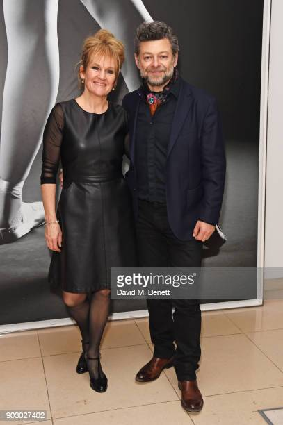 Lorraine Ashbourne and Andy Serkis attend the opening night drinks reception for the English National Ballet's 'Song Of The Earth / La Sylphide' at...