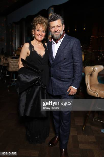 Lorraine Ashbourne and Andy Serkis attend the Tommy Hilfiger VIP Dinner in celebration of the 13th Zurich Film Festival on October 6 2017 in Zurich...