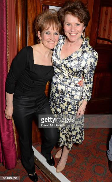 Lorraine Ashbourne and Imelda Staunton attend the press night performance of Good People at the Noel Coward Theatre on April 15 2014 in London England