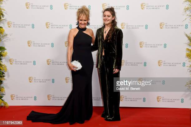 Lorraine Ashbourne and Ruby Serkis arrive at the EE British Academy Film Awards 2020 Nominees' Party at Kensington Palace on February 1 2020 in...