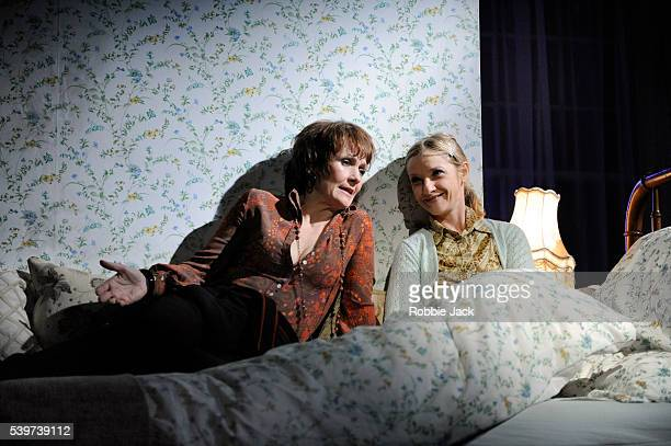 Lorraine Ashbourne as Aunt Dan and Jane Horrocks as Lemon in the production of Wallace Shawn's play Aunt Dan and Lemondirected by Dominic Cooke at...