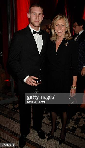 Lorraine Ashton and her son attend the Cartier VIP dinner to celebrate the reopening of their New Bond St store at the Natural History Museum on...