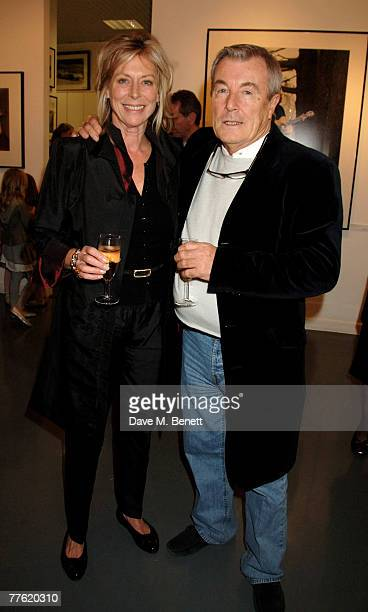 Lorraine Ashton and Terry O'Neill attend a private view of photographs dedicated to Sir Eric Clapton to celebrate his latest book 'Eric Clapton The...