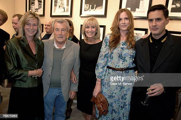 Lorraine Ashton Terry O'Neil Diana Daisy and Dan Donovan attend the private view of 'Terence Donovan Image Maker And Innovator' at the Chris Beetles...
