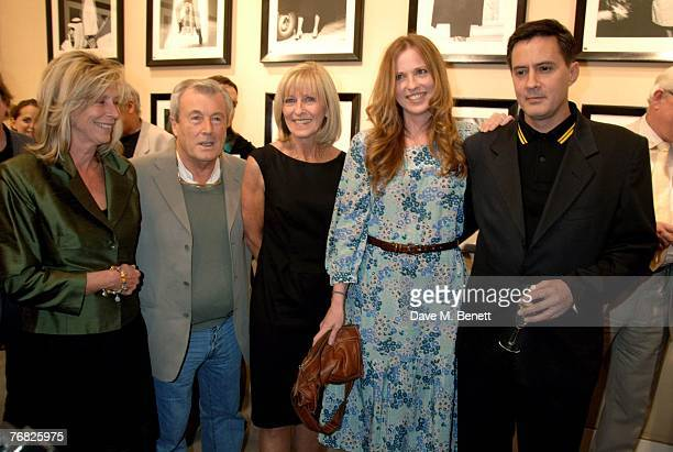 Lorraine Ashton Terry O'Neil with Diana Daisy and Dan Donovan attend the private view of 'Terence Donovan Image Maker And Innovator' at the Chris...