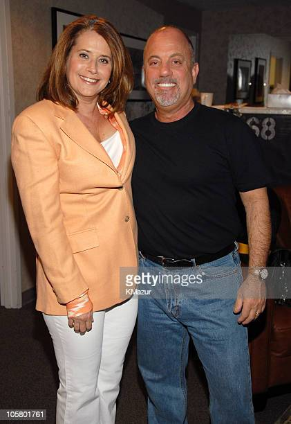Lorraine Bracco and Billy Joel during Billy Joel in Concert at Madison Square Garden April 24 2006 Backstage at Madison Square Garden in New York...